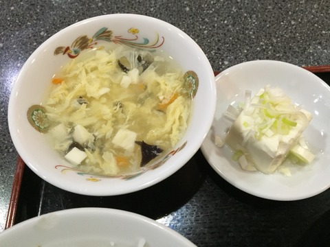 スープと豆腐