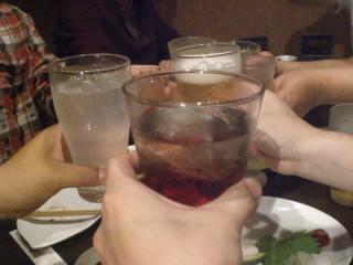 全員揃って乾杯!