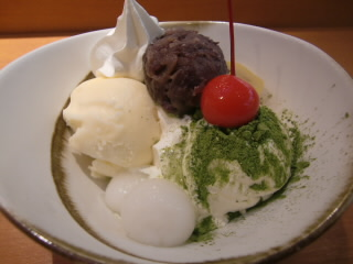 sora cafeの和風パフェは小倉の乗った小倉式