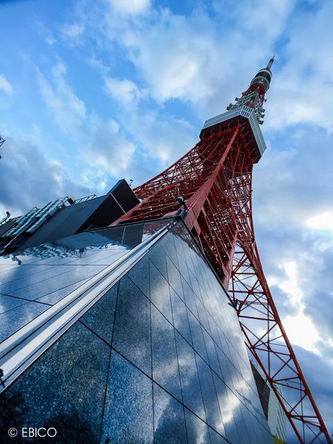 美しい雲が浮かぶ日【東京タワー】
