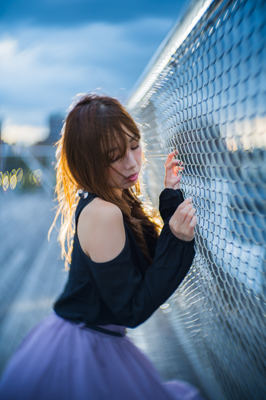 蒼き夕暮れ【モデル:nanaさん2】