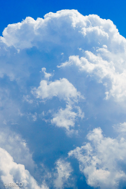夏雲が見えた日