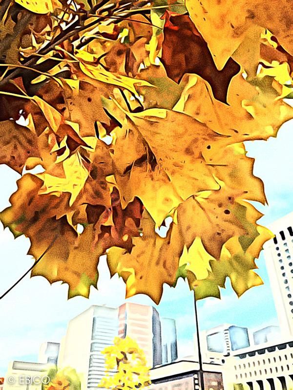 日比谷情景【アプリで絵画風】