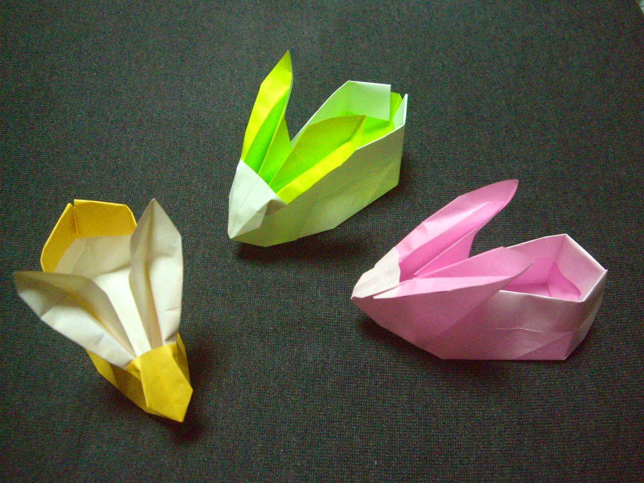 折り紙の 折り紙のリボンの折り方 : ebisuchachaのブログ : origami おり ...