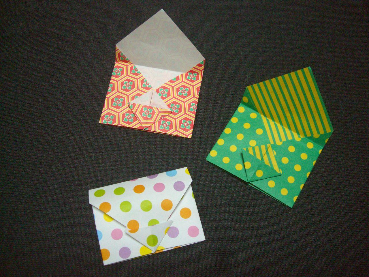ハート 折り紙 ハート 折り紙 手紙 : origami おりがみ遊び(みに封筒)