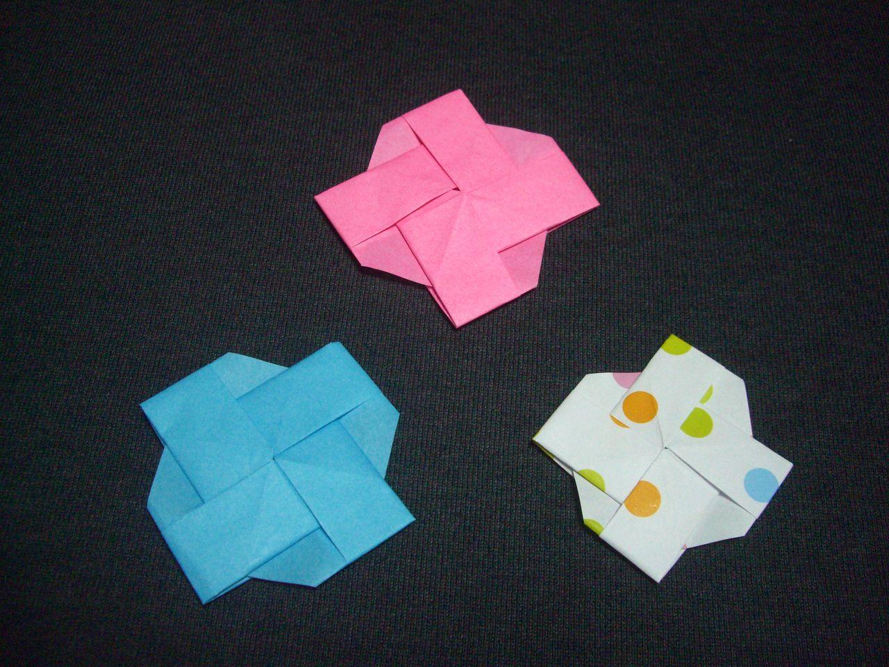 一枚の折り紙で簡単に折ること ... : かわいい折り紙の折り方 : 折り紙の
