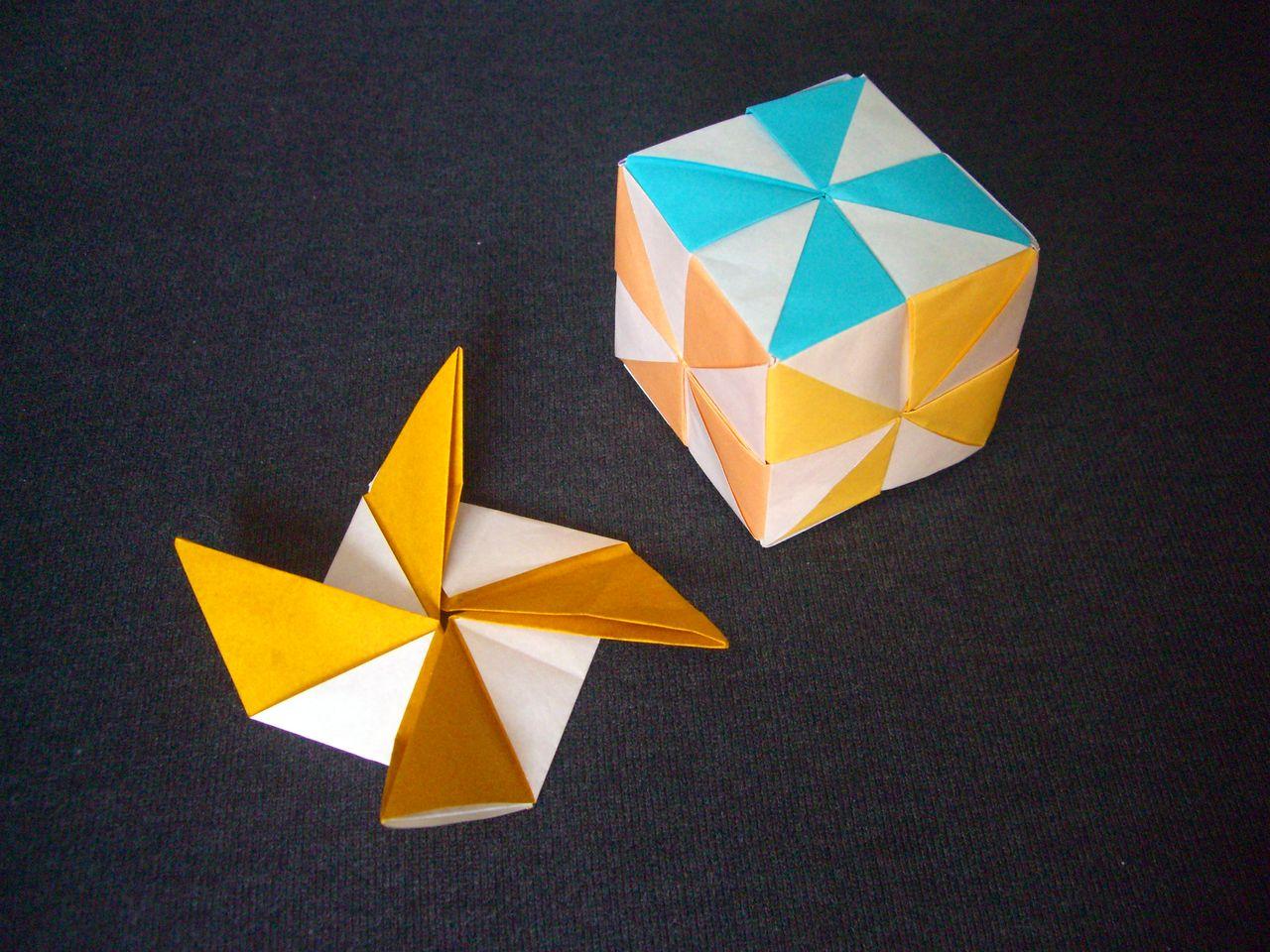 すべての折り紙 折り紙 ハート 折り方 : origami おりがみ遊び(風車模様の ...