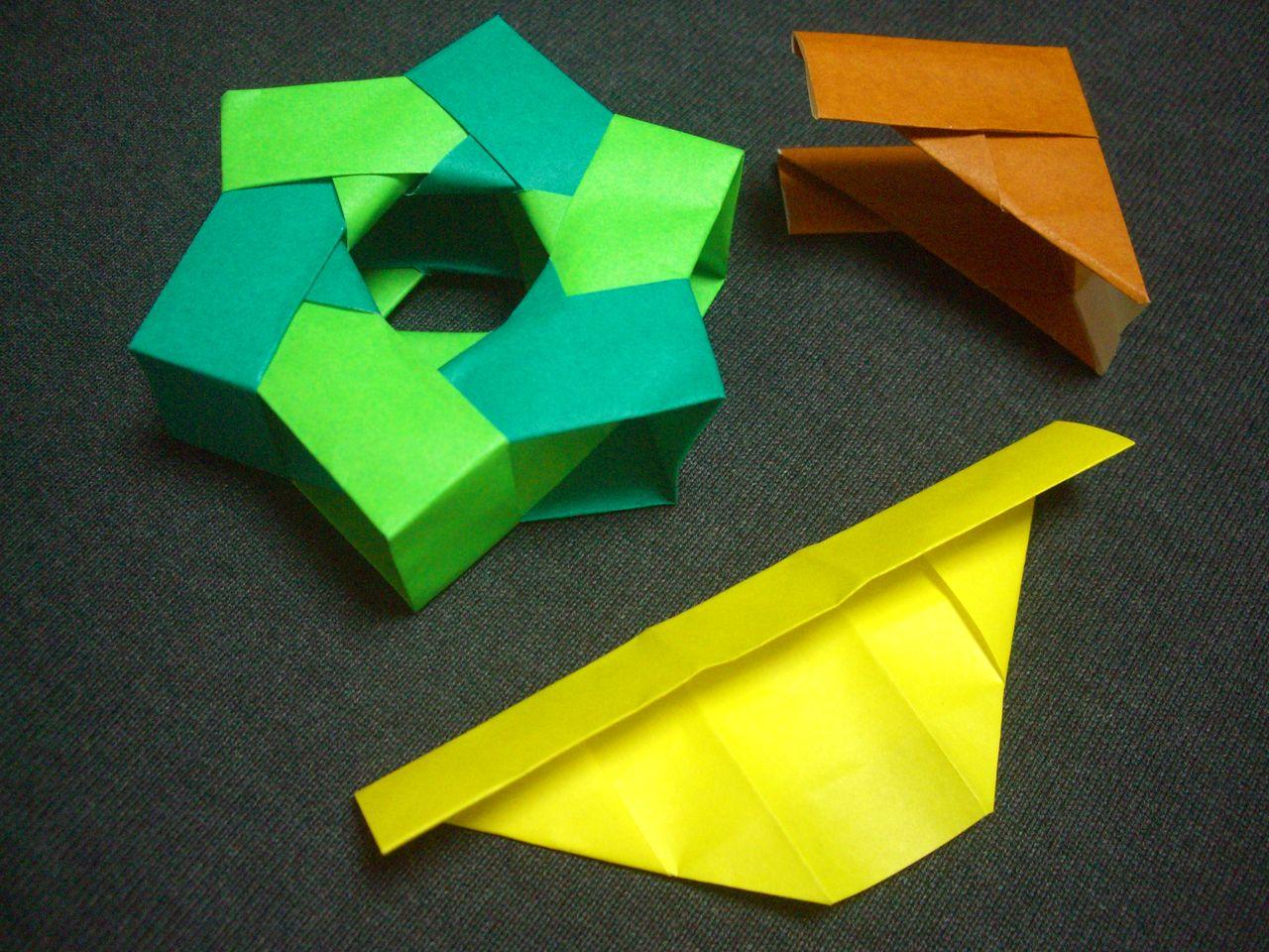 ひまわり 立体 折り紙