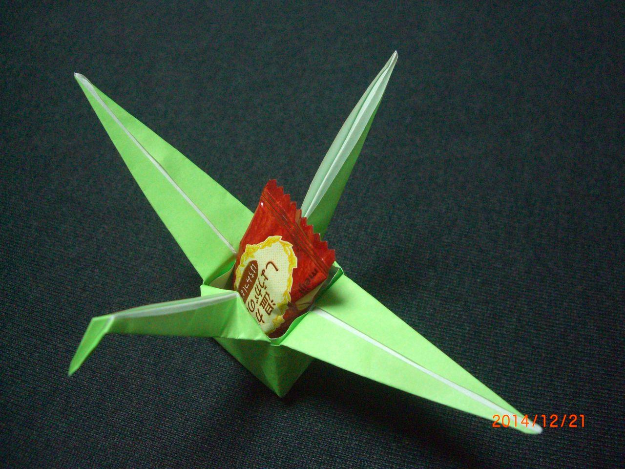 すべての折り紙 折り紙で箱を折る : 途中まで鶴の折り方と同じです ...