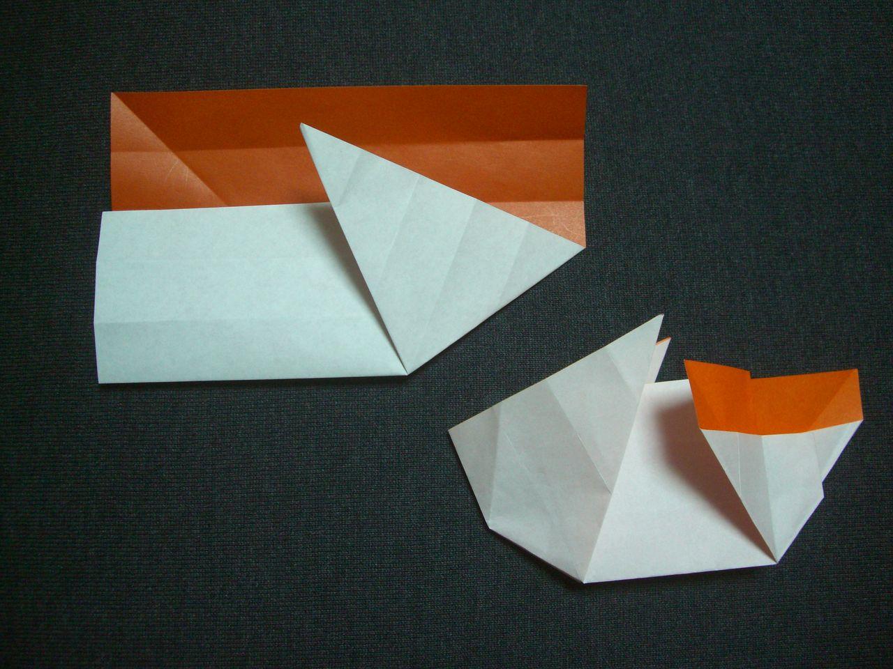 すべての折り紙 ウサギの折り方 折り紙 : ... 遊び(うさぎの入れ物の折り方