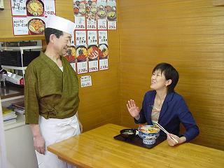 「とくダネ!「列車で満喫!函館&札幌格安旅」の函館朝市編で、乾貴美子さんが来られました。