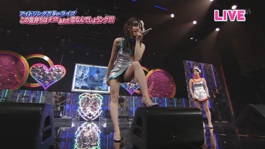 テレビの中継で菊池亜美の股間がモロ見え