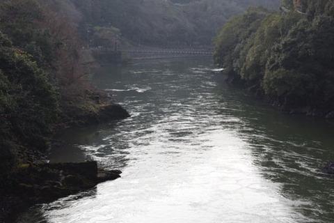 白虹橋からの吊り橋