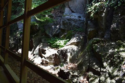 摩尼殿横の崖