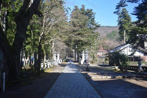仁王門からの参道
