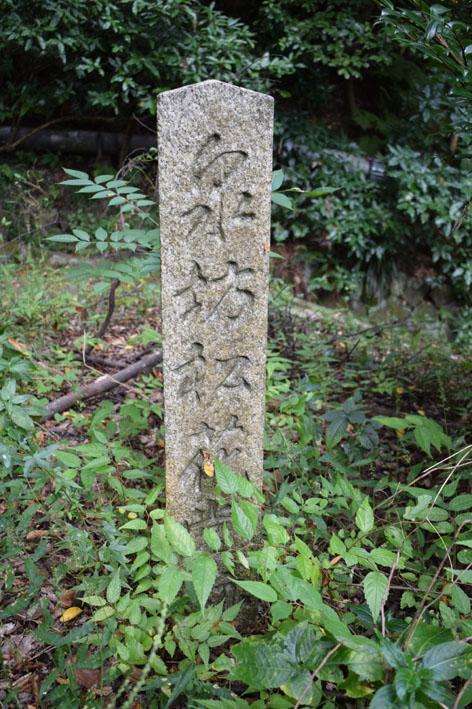 泉坊跡-石柱