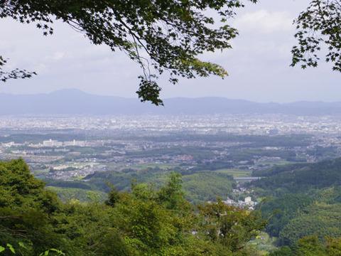 開山堂前の景色