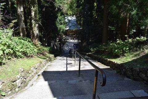 釈迦堂への下り坂