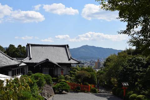 貴賓館と大文字山