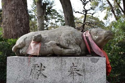 親子牛の像