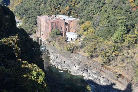 ダムからの志津川発電所