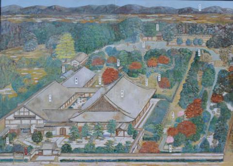 桂春院境内図