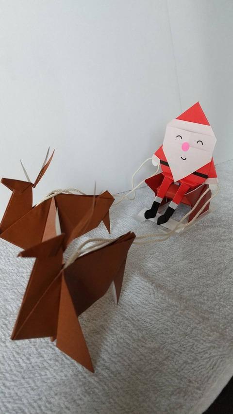 折り紙のサンタ1