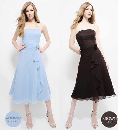色違い 水色 ブルー ドレス