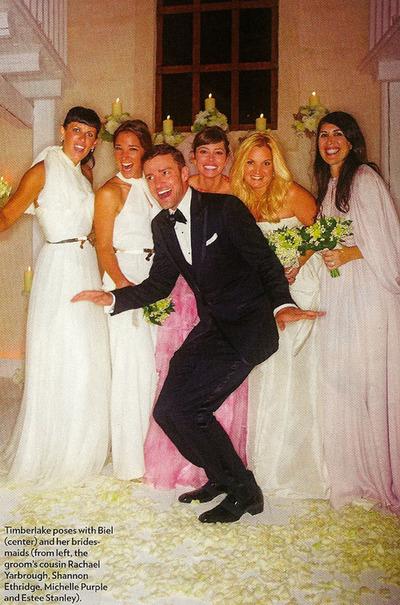 ジャスティン・ティンバーレイク 結婚式