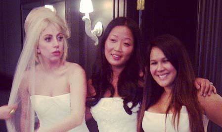 lady gaga as a bridesimaid
