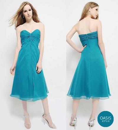 青 ブルー ドレス