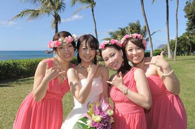ブライズメイド 結婚式 衣装 ハワイ 海外ウエディング