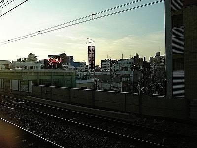 京王線 八幡山駅の夕暮れ 2009年07月15日(水)
