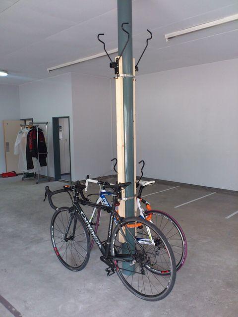 自転車の 自転車 駐輪 スタンド 4台 : バイクガレージ(駐輪場)福岡 ...