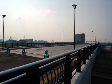 平和大橋完成間近