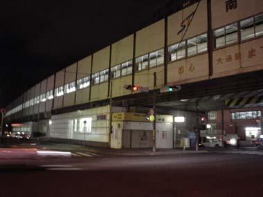 南平岸駅の夜