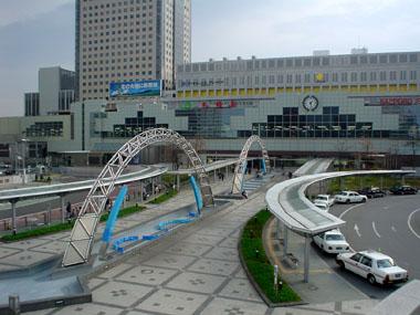 札幌の風景:札幌駅北口の駅前広場
