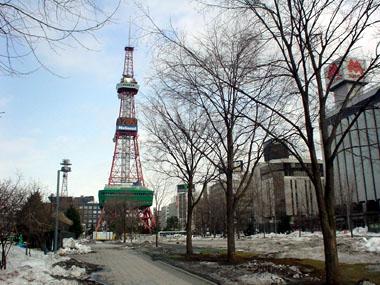 大通公園と時計台1