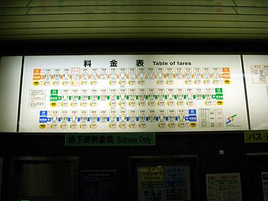地下鉄料金表2