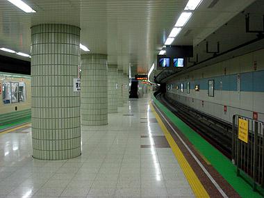 宮の沢駅ホーム