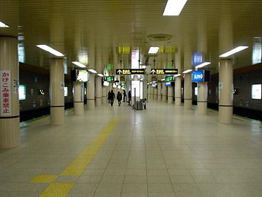 麻生駅ホーム