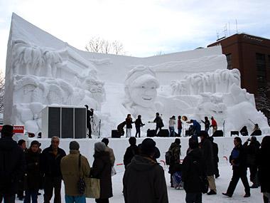 雪まつり沖縄大雪像
