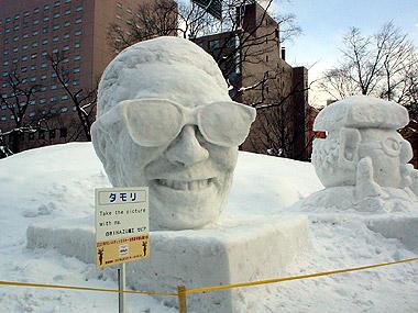 雪まつりタモリ小雪像