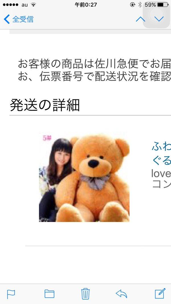 【悲報】ネットで注文したクマのぬいぐるみのサイズ感が違いすぎるwwww