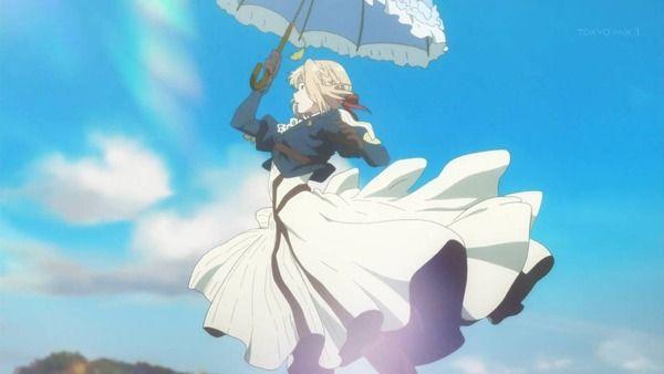 『ヴァイオレット・エヴァーガーデン』7話感想 傘を持ち飛ぶヴァイオレット!ついに真実が・・・