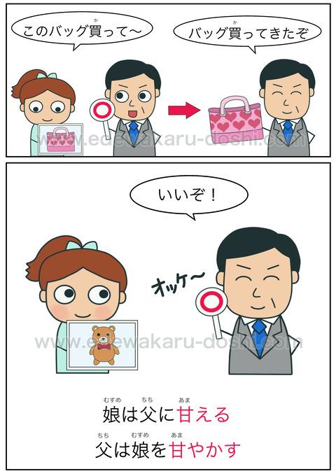 doshi甘える・甘やかす