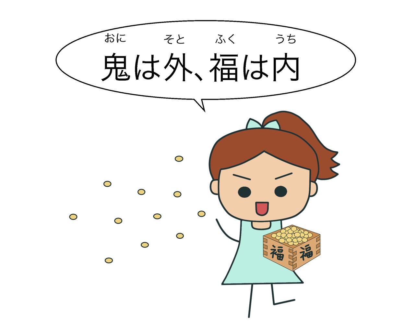 絵でわかる日本語今日は「節分(せつぶん)」