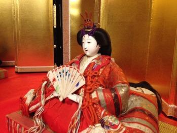 大正8年のひな人形の女雛