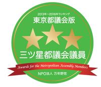 2013-2016都議三ツ星ロゴ