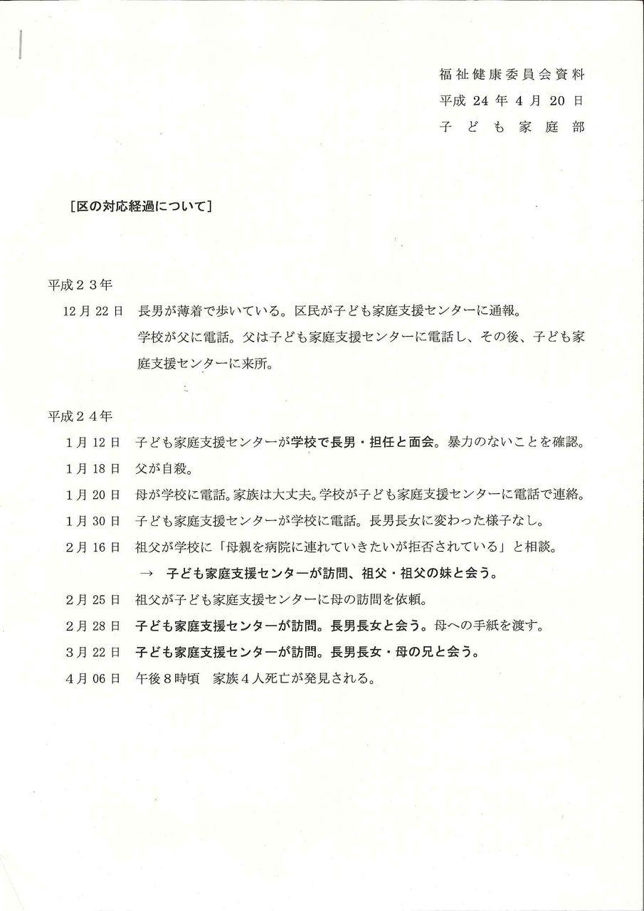 松江親子心中事件の江戸川区の報告体制に疑問 東京都議会議員 上田